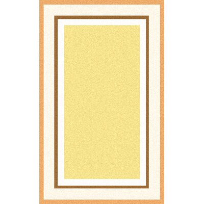 Cherish Hand-Tufted Yellow Area Rug Rug size: 8 x 11