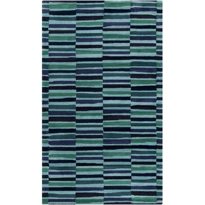 Futch Hand-Tufted Striped Blue Area Rug Rug Size: Rectangle 8 x 11