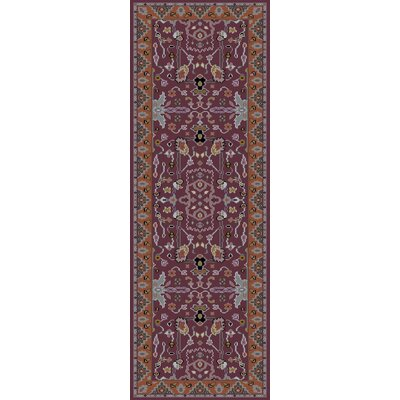 Orland Classic Eggplant/Rust Area Rug Rug size: Runner 26 x 8