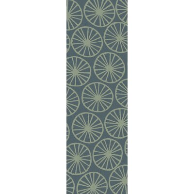 Yacht Club Coastal Moss/Teal Area Rug Rug size: Runner 26 x 8