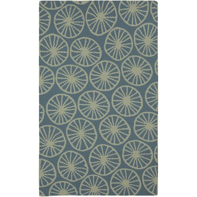 Byington Coastal Moss/Teal Area Rug Rug size: Rectangle 5 x 8