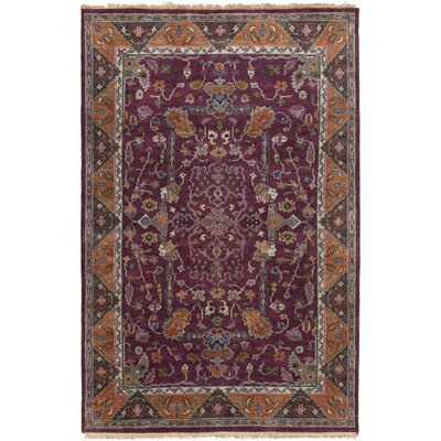 Orland Classic Eggplant/Rust Area Rug Rug size: Rectangle 2 x 3