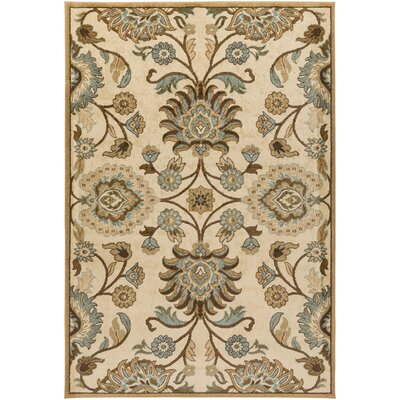 Putterham Beige Area Rug Rug Size: Rectangle 52 x 76