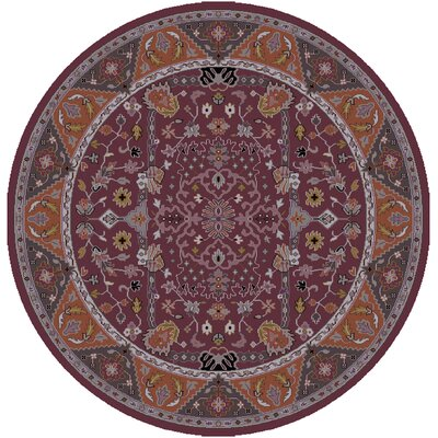 Orland Classic Eggplant/Rust Area Rug Rug size: Square 8