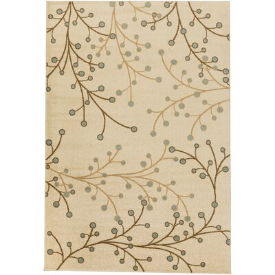 Onna Beige Floral Area Rug Rug Size: Rectangle 2 x 23