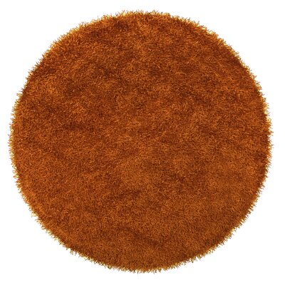 Bonomo Burnt Orange Area Rug Rug Size: Round 6