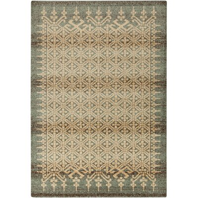 Putterham Moss/Beige Area Rug Rug Size: Rectangle 76 x 106