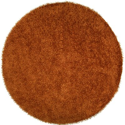 Bonomo Burnt Orange Area Rug Rug Size: Round 8