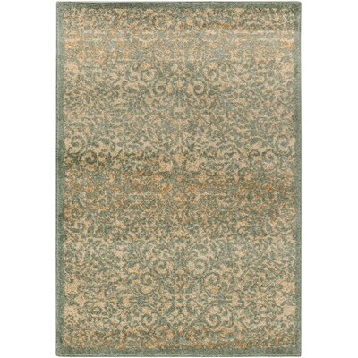 Bush Beige/Moss Area Rug Rug Size: Rectangle 52 x 76