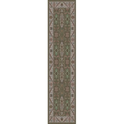 Orland Sea Foam/Taupe Area Rug Rug Size: Runner 26 x 8