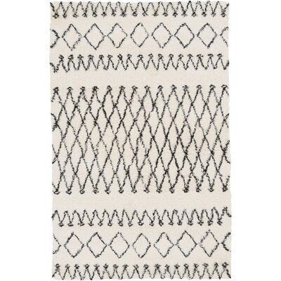 Santos Hand-Woven Charcoal/Ivory Area Rug Rug Size: 2 x 3