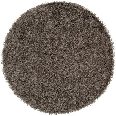 Bonomo Light Gray Area Rug Rug Size: Round 6