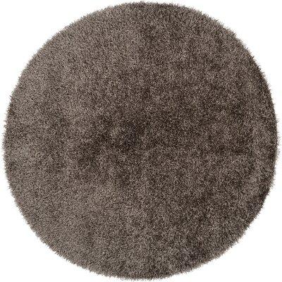 Bonomo Light Gray Area Rug Rug Size: Round 8