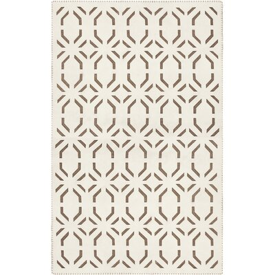 Arthur Beige/Mocha Area Rug Rug Size: Rectangle 33 x 53
