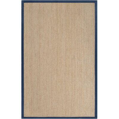 Arend Hand Woven Navy Area Rug Rug Size: 8 x 10