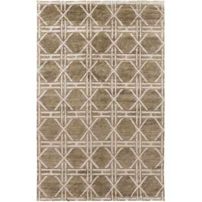 Terrance Olive Geometric Area Rug Rug Size: Rectangle 5' x 8'