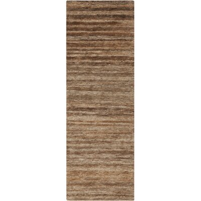 Levi Brown Rug Rug Size: Runner 26 x 8