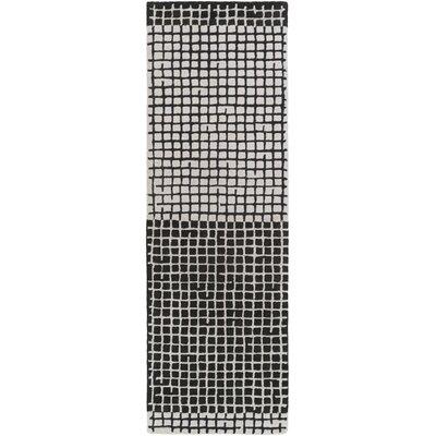 Adali Black Area Rug Rug Size: Runner 26 x 8