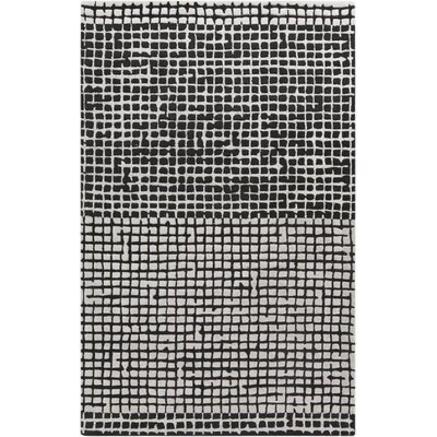 Theory Black Area Rug Rug Size: 33 x 53