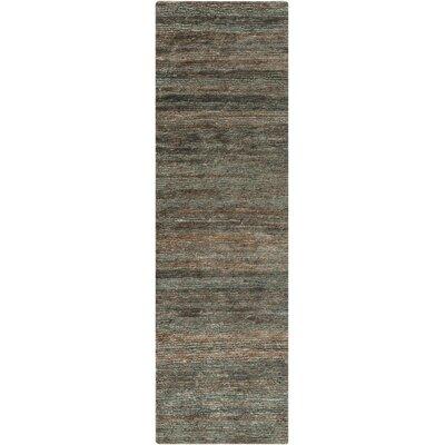Hettie Moss/Slate Rug Rug Size: Runner 26 x 8