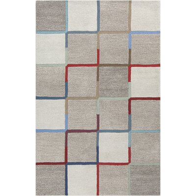 Idina Geometric Hand-Tufted Gray Area Rug Rug Size: Rectangle 2 x 3