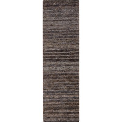Levi Charcoal Rug Rug Size: Runner 26 x 8