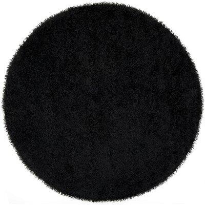 Bonomo Black Area Rug Rug Size: Round 8