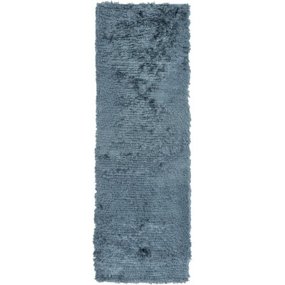 Wendi Handmade Teal Solid Area Rug Rug Size: Rectangle 8 x 11