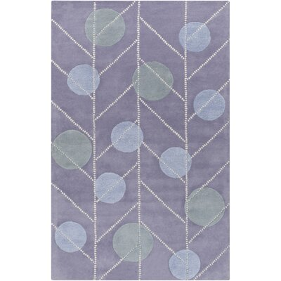 Idina Geometric Hand-Tufted Mauve Area Rug Rug Size: Rectangle 2 x 3