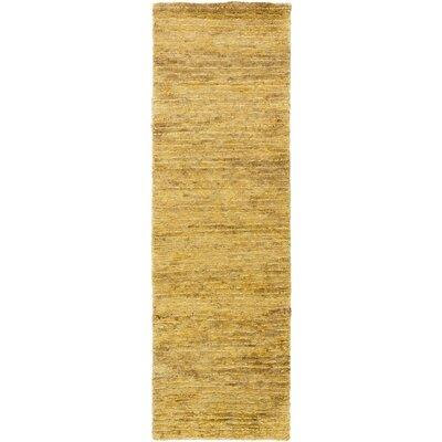 Levi Gold Rug Rug Size: Runner 26 x 8