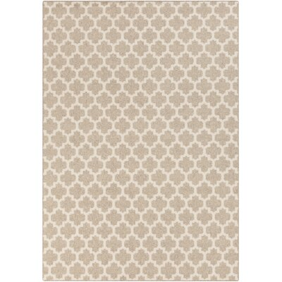 Elburn Beige/Ivory Geometric Area Rug Rug Size: Rectangle 8 x 10
