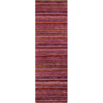 Hettie Plum Rug Rug Size: Runner 26 x 8