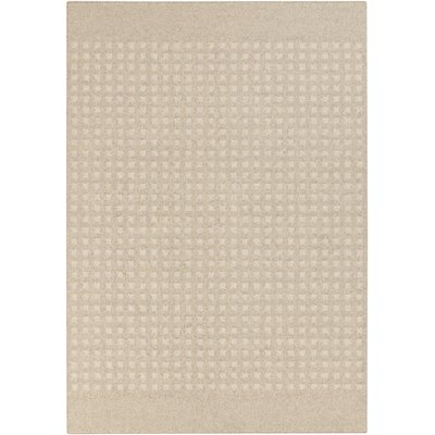 Buck Hill Machine woven Beige/Ivory Geometric Area Rug Rug Size: 2' x 3'