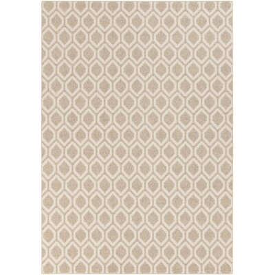 Buck Hill Beige/Ivory Geometric Machine Woven Wool Area Rug Rug Size: Rectangle 5 x 8