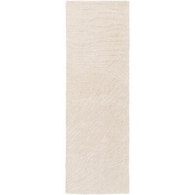 Brent Ivory Modern Area Rug Rug Size: Runner 26 x 8