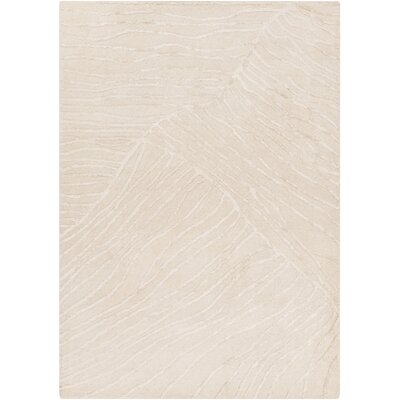 Brent Ivory Modern Area Rug Rug Size: Rectangle 36 x 56
