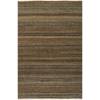 Barnesbury Brown Striped Rug Rug Size: Rectangle 4 x 6
