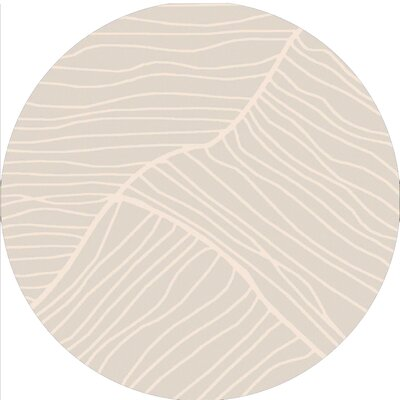 Brent Ivory Modern Area Rug Rug Size: Round 8