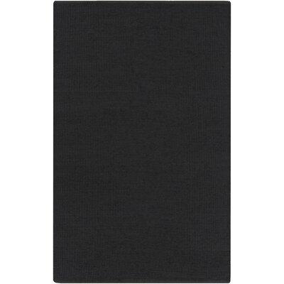 Croom Hand-Woven Charcoal Area Rug Rug Size: 2 x 3