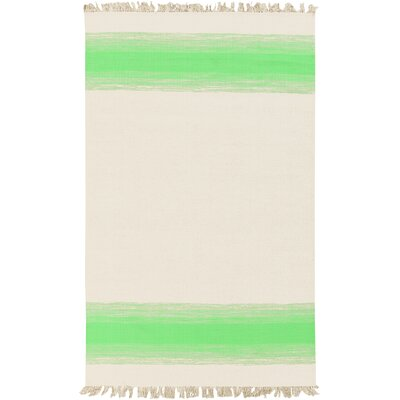 Creech Shine Hand Woven Beige/Lime Area Rug Rug Size: 2 x 3