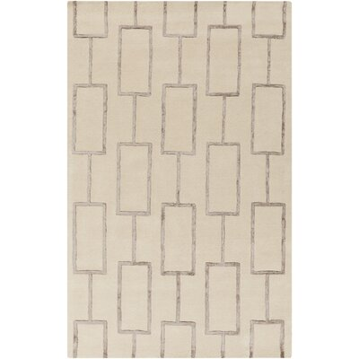 Aldred Beige Geometric Area Rug Rug Size: Rectangle 2 x 3
