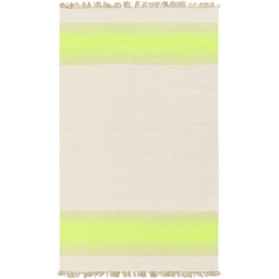 Creech Shine Hand Woven Beige/Lemon Area Rug Rug Size: 5' x 8'