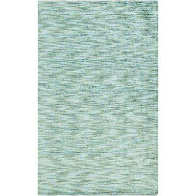 Calabro Handmade Teal Area Rug Rug Size: Rectangle 5 x 8