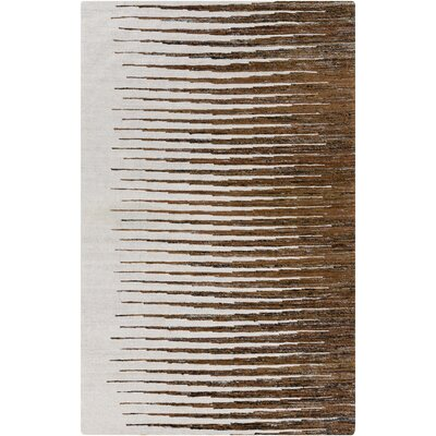 Vaughn Mocha Geometric Area Rug Rug Size: Rectangle 2 x 3