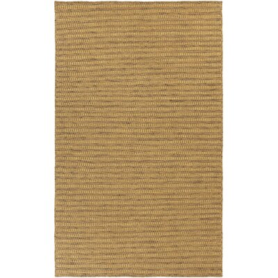 Walton Hand-Woven Gold Area Rug Rug Size: Rectangle 5 x 8