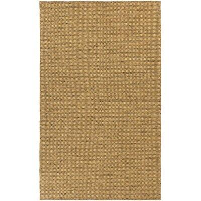 Walton Hand-Woven Gold Area Rug Rug Size: 5 x 8