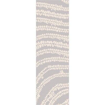 Villa Court Beige/Slate Rug Rug Size: Runner 26 x 8