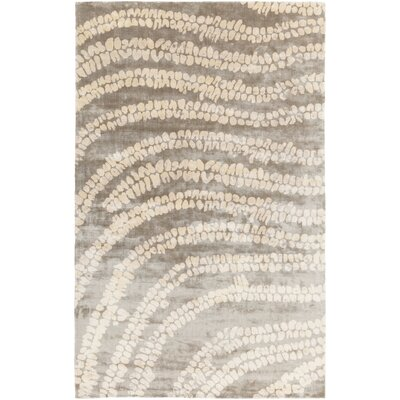 Villa Court Hand-Woven Beige/Olive Area Rug Rug Size: Rectangle 5 x 8