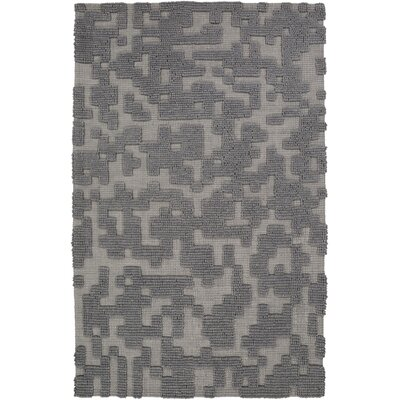Edmonson Handmade Gray Area Rug Rug Size: Rectangle 5 x 8