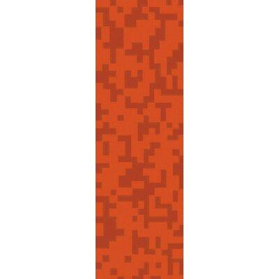 Stencil Rust Area Rug Rug Size: Runner 26 x 8